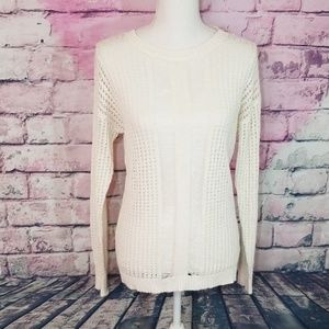 TURO BY VINCE CAMUTO XS CREAM OPEN KNIT SWEATER